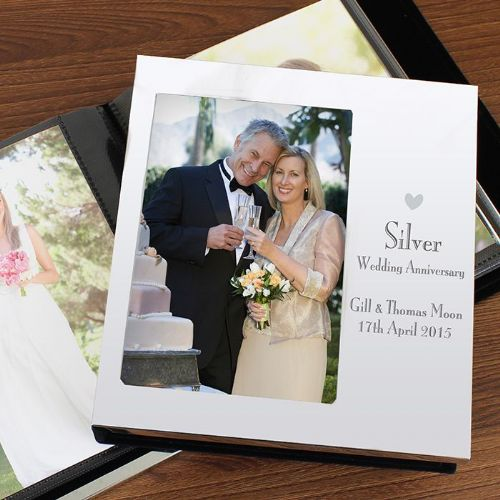 Decorative Silver Anniversary Photo Frame Album 4x6